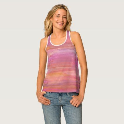 Pink Racer-back Tank Top - chic gifts diy elegant gift ideas personalize