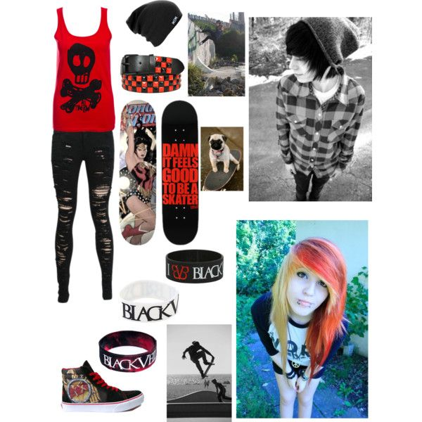 Girl Skater By Lolvannessa On Polyvore Skater Girl Outfits Pinterest Skateboarding