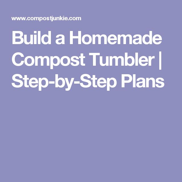 how to build your own compost
