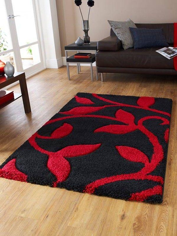 Black Red Rug Rugs