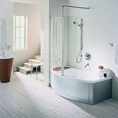 Small Bathroom Tub And Shower Combo: Love This Soaker Tub/shower Combo. Because Some Bathrooms