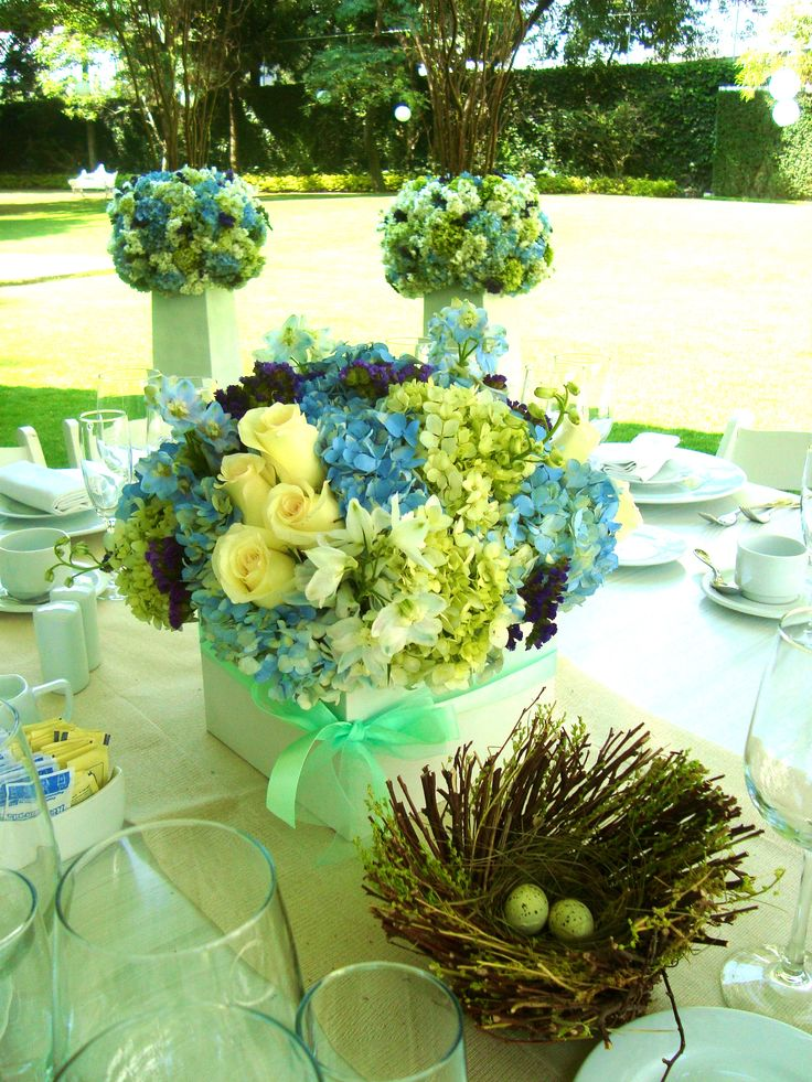 13 best decoraci n de bautizo en verde y azul images on for Decoracion bautizo en jardin