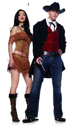 Couple costumes: cowboy and Indian