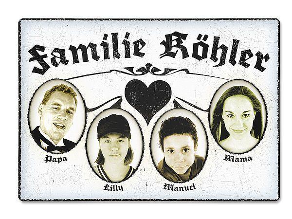 Familientürschild Vintage Family . Türschild im Vintage Style Dieses ...