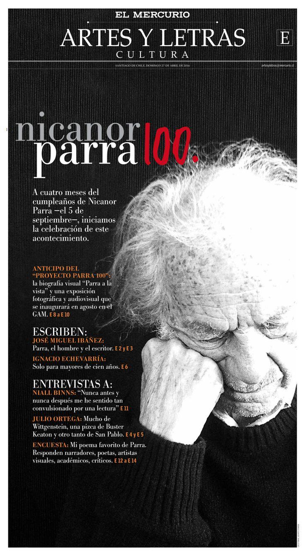 Nicanor Parra 100   El Mercurio (27.04.14)
