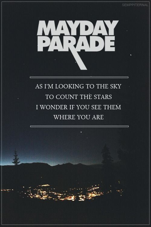 Walk On Water Or Drown // Mayday Parade
