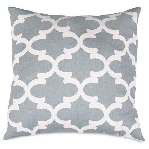 loving this gray trellis square throw pillow on - Large Decorative Pillows
