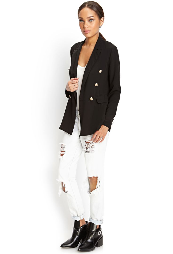 Double-Breasted Blazer | FOREVER21 - 2000119809