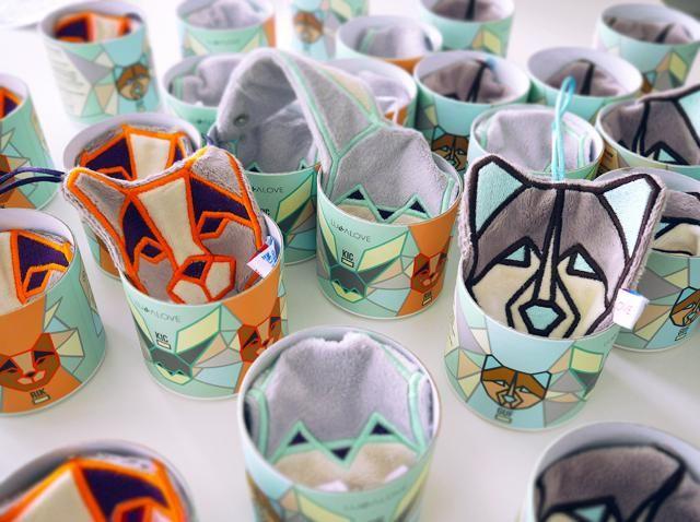 Geometric cuddly toys, perfect to attach a teether or a pacifier. KIC RIK GUF - strażnicy smoczka i gryzaka.  #geometric #toys #bunny #origami # design