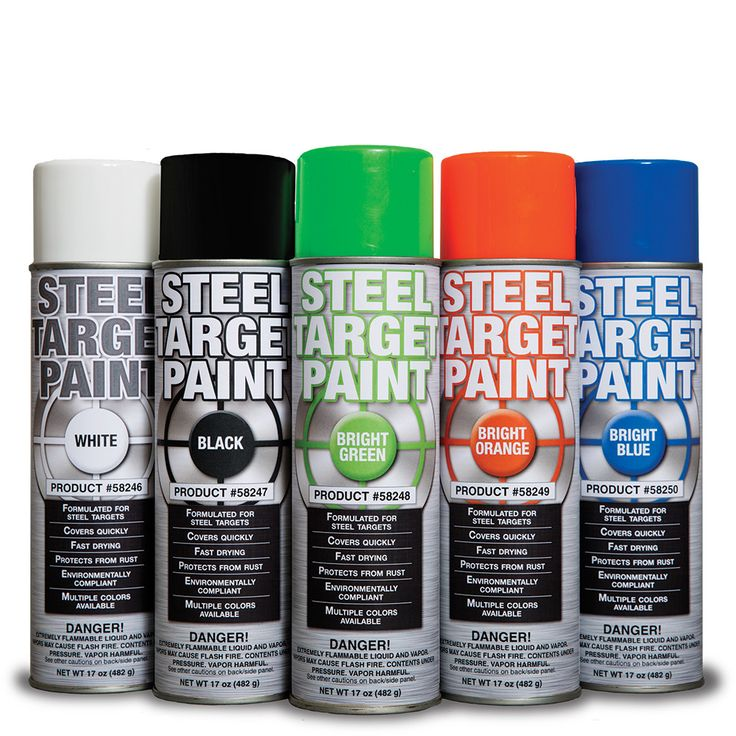 Steel Target Paint - Perfect for seeing your hits when shooting AR500 steel targets