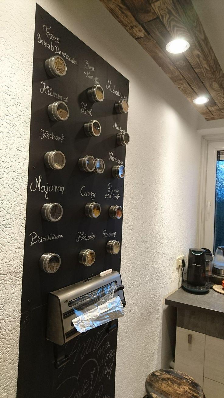 Magnet tafel Gewürz Wand  Wand küche, Küchen tafel, Tafel wand