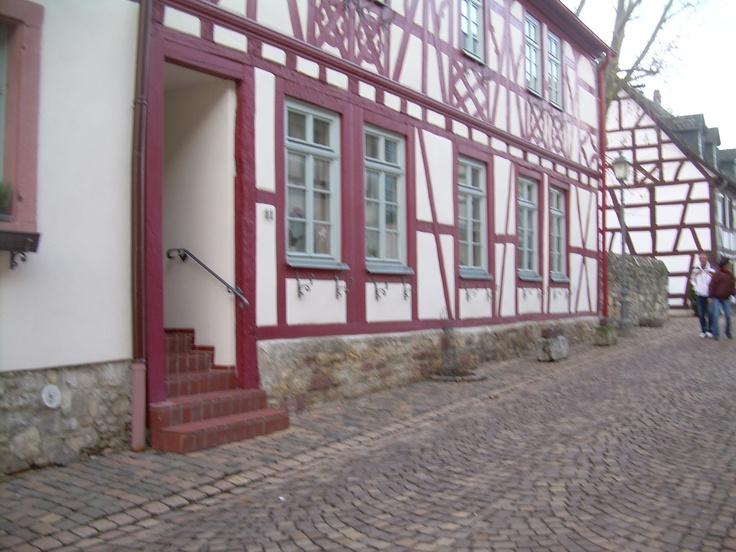 An original half-timber house (Fachwerkhaus)