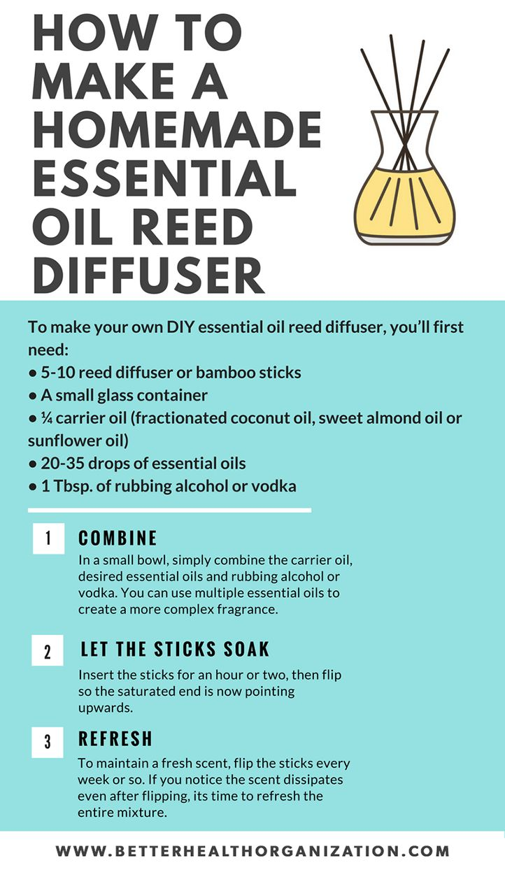 how to make homemade essential oil reed diffuser