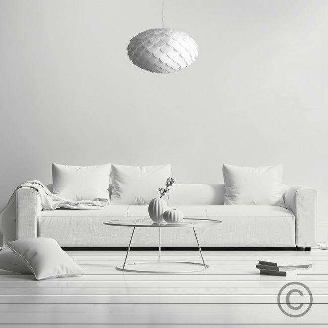 Armadillo Pendant Lampshade In White