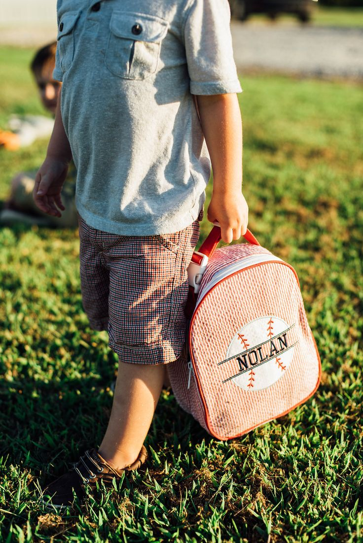 Personalized Kid Backpack. Customized Baseball Backpack. Kid Embroidery. Back to School.