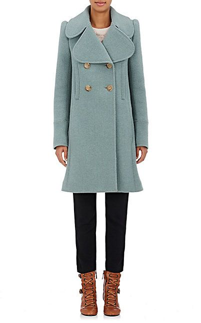 We Adore: The Brushed Wool Twill Peacoat from Chloé at Barneys New York