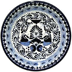 These beautifully handcrafted Talavera plates by the renowned Tomas Huerta   ceramic studio will make a vibrant and cultural addition to any space in your home. With over 100 unique designs in this expansive collection, you're sure to find one that fits your taste. Every authentic Talavera plate is handmade in Puebla, Mexico, and is 100% lead free; chip and crack resistant; as well as microwave, oven, and dishwasher safe! There is even an eyelet on the back of each plate for easy wall ...