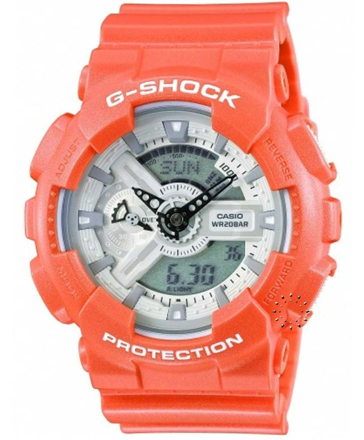 CASIO G-Shock Orange Rubber Strap Μοντέλο: GA-110SG-4AER Η τιμή μας: 150€ http://www.oroloi.gr/product_info.php?products_id=34542
