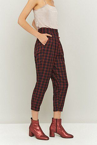 Urban Renewal Vintage Remnants Navy Checked Trousers