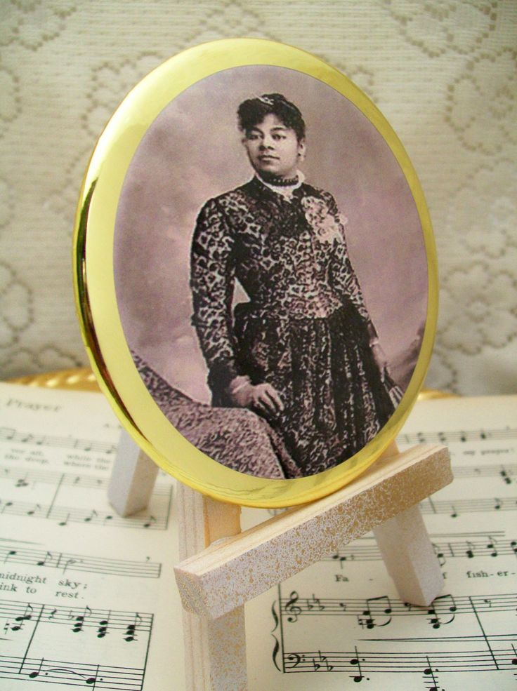 Victorian Era African American Woman, Circa - Makeup Mirror, Large Palm Mirror, Cosmetic Mirrors, Handheld Mirrors by PrayerNotes on Etsy