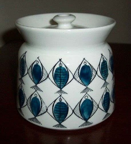 arabia finland fish pattern sugar bowl