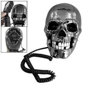Blk Plastic, Teeth Blue, Skull Decor, Eye Skull, Telephone Byuxcel, White Teeth, Blue Eyes, Plastic White, Skull Telephone