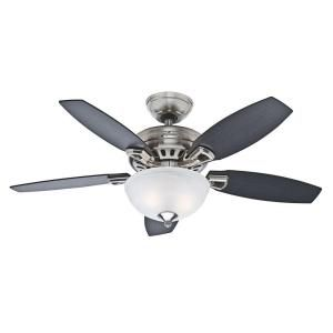 Hunter, Holden 44 in. Brushed Nickel Ceiling Fan, 51065 at The Home Depot - Mobile