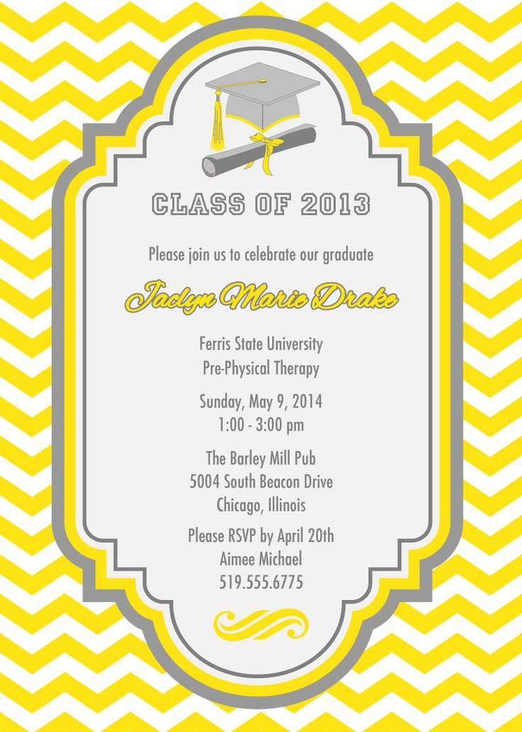 45 best images about Graduation Invitations – Invitation to Graduation Party
