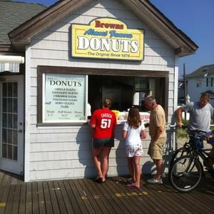 Browns Donuts on the boardwalk, Ocean City New Jersey. These are some of the best donuts that I've ever had. There's nothing better than getting up and walking down the block for fresh donuts.