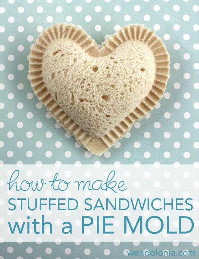 How to Make Stuffed Sandwiches with a Pie Mold, cookie cutter sandwiches, & bento box lunches on this site