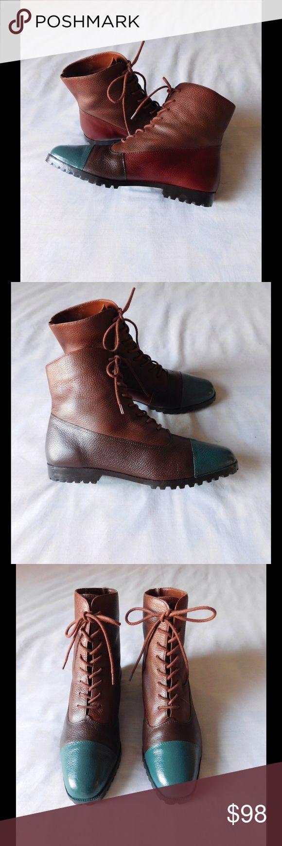 Spotted while shopping on Poshmark: Majestic Block Vintage Booties W/ Shoelaces! #poshmark #fashion #shopping #style #Shoes