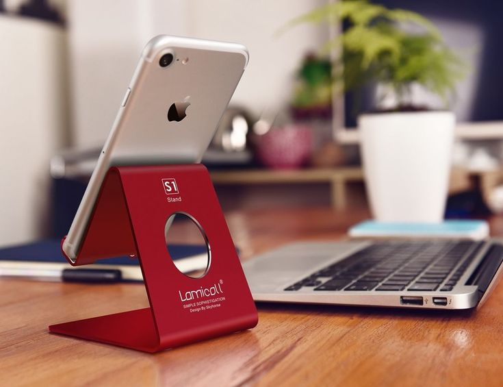 #IphoneX Cell #Phone #Stand #Cradle #Holder Stand #Charging Accessories #Desk #Red