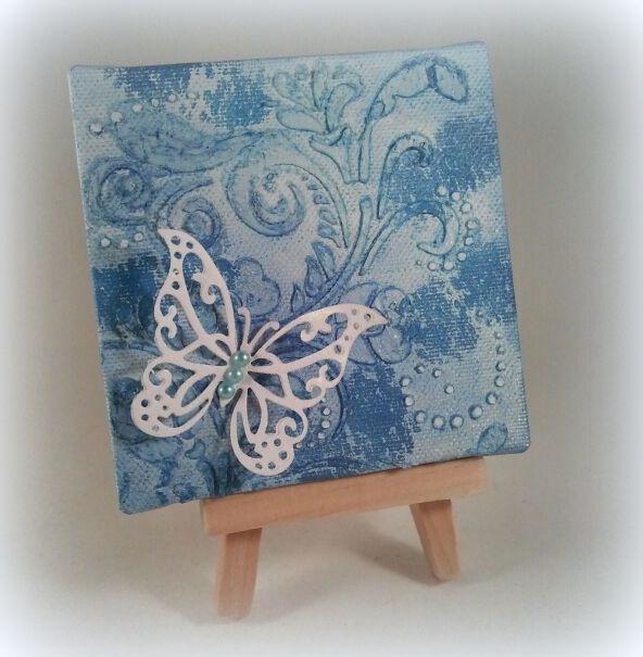 6002/0817 Noor! Design Sjabloon Swirl Modelleerpasta op canvas door Janet Blaauw
