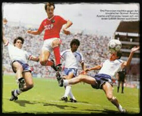 France 1 USSR 1 in 1986 in Leon. A point each for the two favourites in Group C #WorldCupFinals
