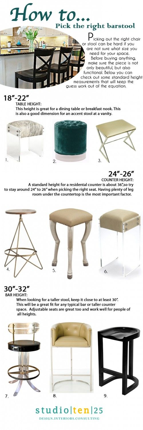 Bar Stool Height Tips