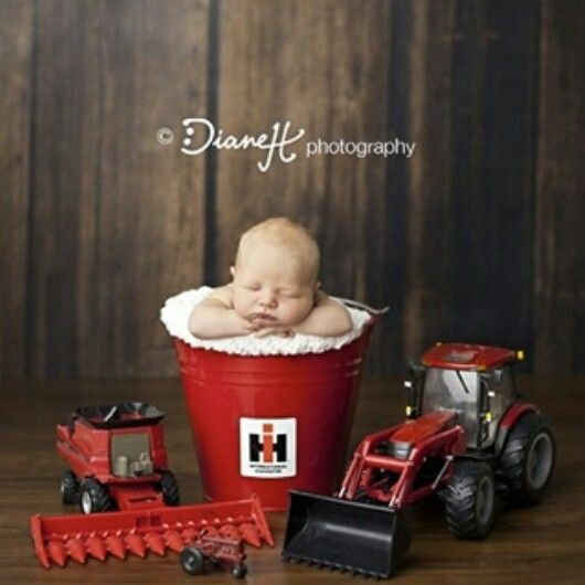 OMG... I can't even.. this is so freakin' cute!! #IH #InternationaHarvester #newbornbabypictures