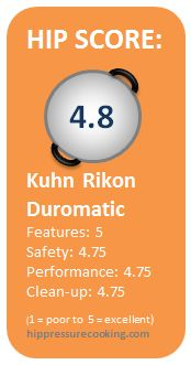 Pressure Cooker Review: Kuhn Rikon Duromatic | hip pressure cooking