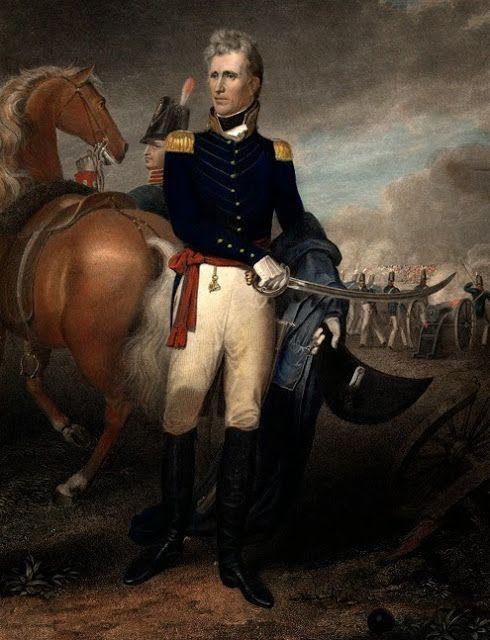 Эндрю Джексон в сражении при Новом Орлеане в 1815 году.