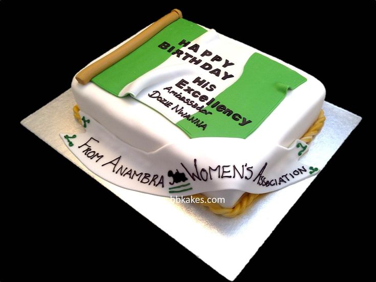 Nigerian Flag Cake | Retangle Nigerian Flag Birthday Cake