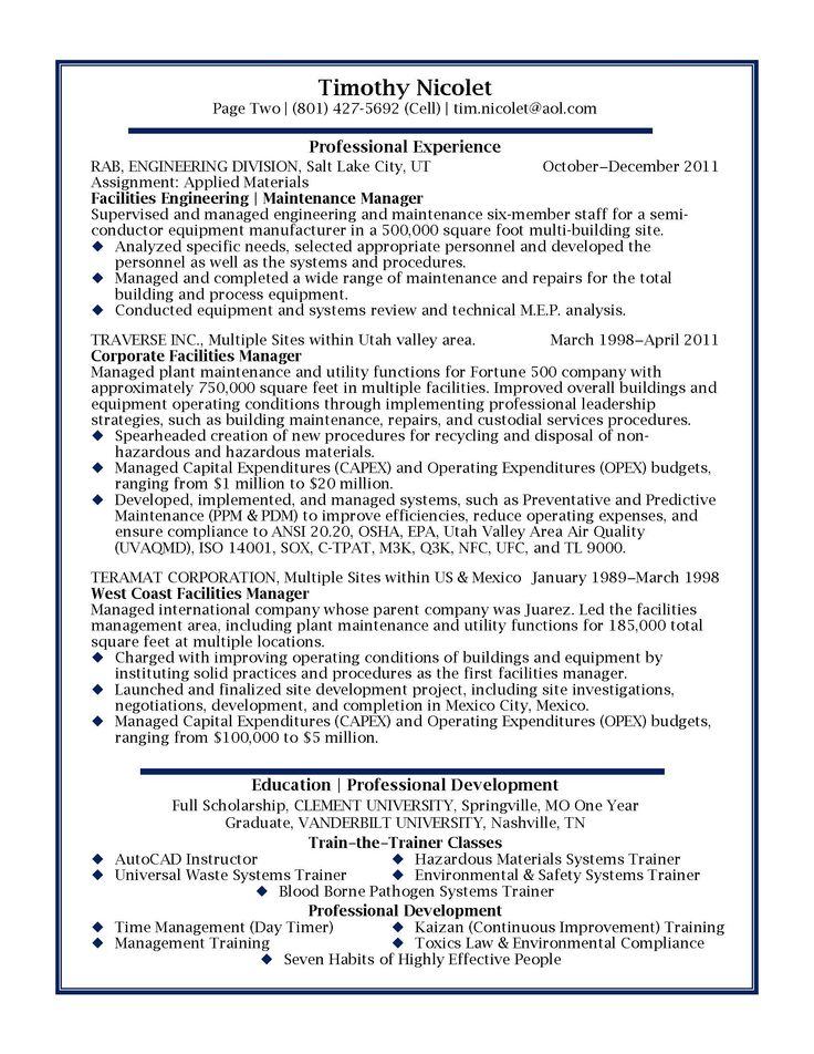 stage manager resume templates
