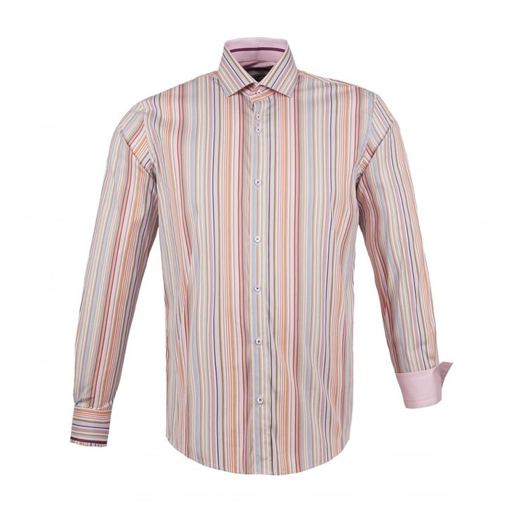 Guide London Multi Stripe Print Long Sleeve Shirt