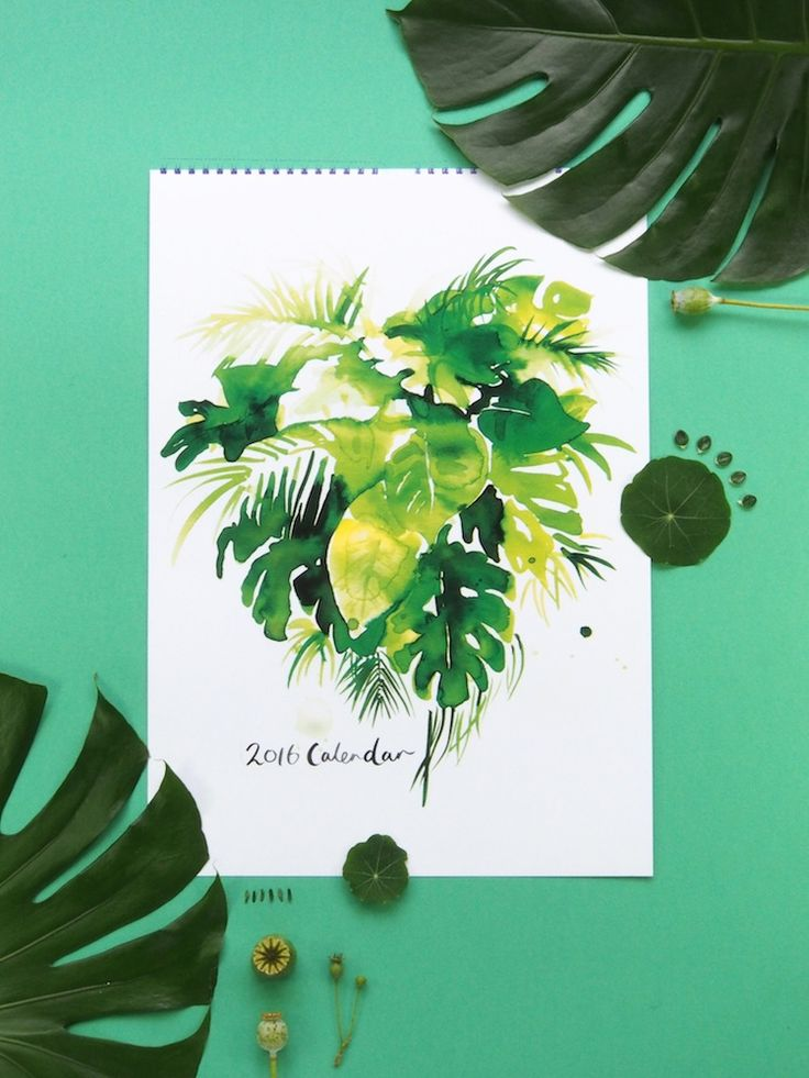 Seasonal Produce and Botanicals 2016 Calendar A3 bound on high quality 250gsm uncoated stock.