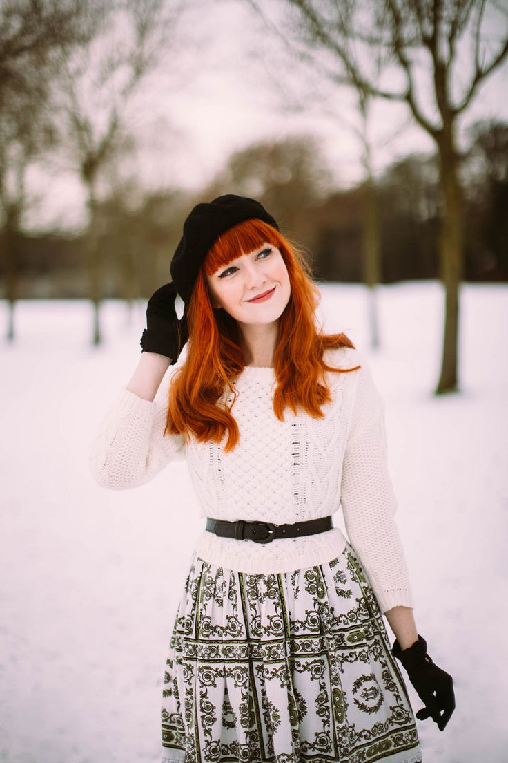 aclotheshorse vintage dress in the snow