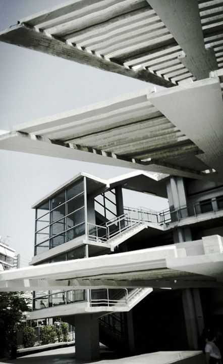 Stroggilo school, Takis Zenetos, 1974 #modernism