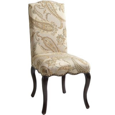 claudine dining chair cream paisley
