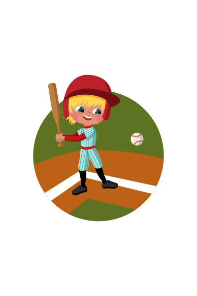 Kid Playing Baseball Vector Image #basketball #vector http://www.vectorvice.com/kids-activities-vector