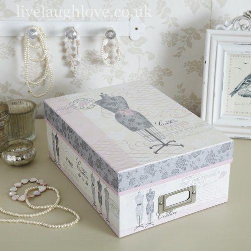 Tuneado vintage para cajas de ikea cajas decoupage - Cajas de ikea ...