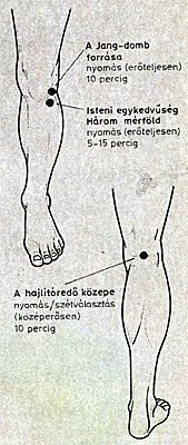 térdfájdalom akupresszúra pontok