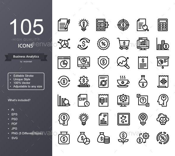 Business Analytics Custom Icons Icon Best Icons