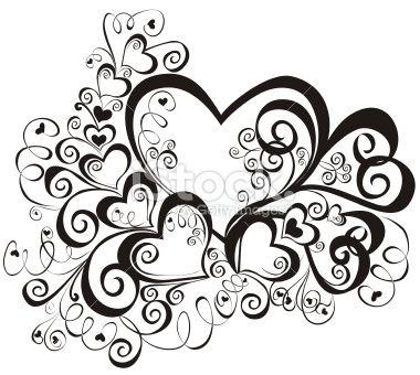 Lacy hearts Royalty Free Stock Vector Art Illustration